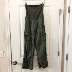 Motherhood Maternity Army Green Cargo Pants